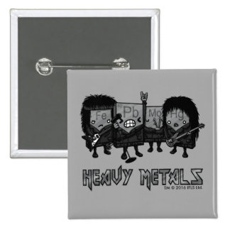 Heavy Metals 2 Inch Square Button