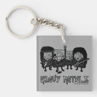 Heavy Metals Double-Sided Square Acrylic Keychain