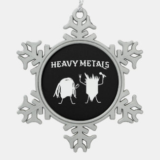 Heavy Metals Pewter Snowflake Ornament
