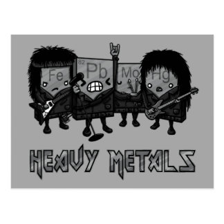 Heavy Metals Postcard
