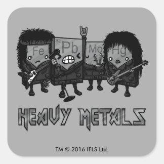 Heavy Metals Square Sticker