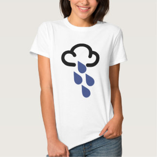Heavy Rain: Retro weather forecast symbol Tee Shirts