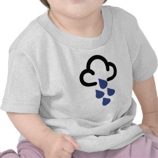 Heavy Rain: Retro weather forecast symbol Tshirts