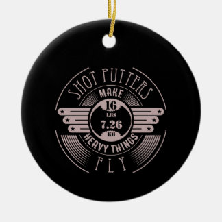 heavy things that fly 2 ceramic ornament