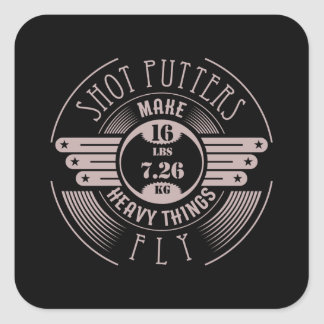 heavy things that fly 2 square sticker