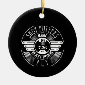 heavy things that fly ceramic ornament
