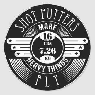 heavy things that fly round sticker