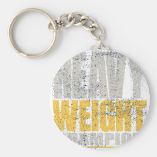 Heavy weight basic round button keychain