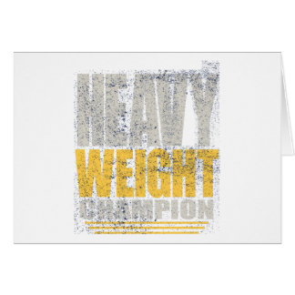 Heavy weight card