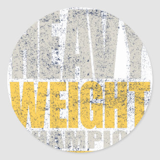 Heavy weight round sticker