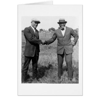 Heavyweight Boxers, 1922 Greeting Card