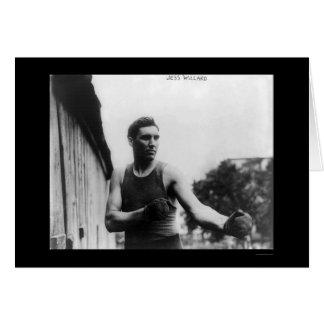 Heavyweight Champ Jess Willard Boxing 1915 Greeting Card