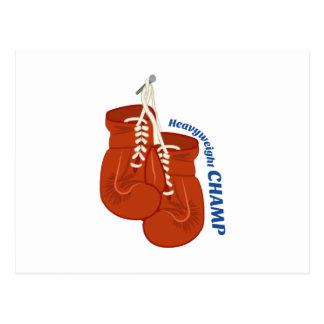 Heavyweight Champ Postcard