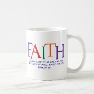 Hebrew 11:1, multi-color coffee mug