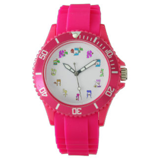 Hebrew cartoon letters watch
