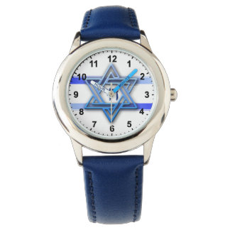 Hebrew Chai Jewish Star Of David Watch