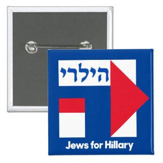 HEBREW JEWS for Hillary Clinton 2016 president pin