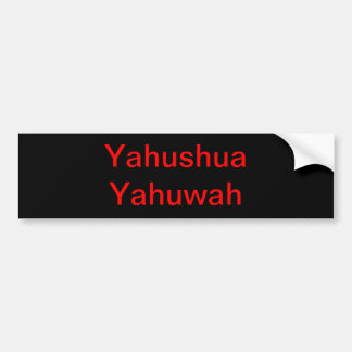 Hebrew names of God. Bumper Sticker