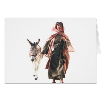 Hebrew woman with Donkey - The Jerusalem Entry Card