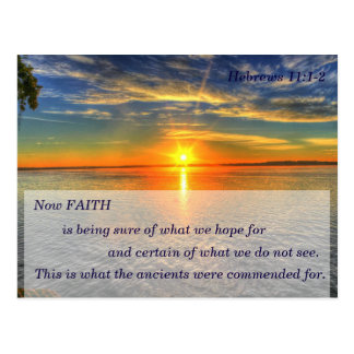 Hebrews 11:1 Christian Scripture Memory Card Postcard