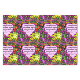 HEBREWS 11:1 FLORAL DESIGN TISSUE PAPER