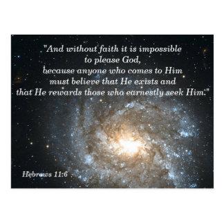 Hebrews 11:6 Christian Scripture Memory Card
