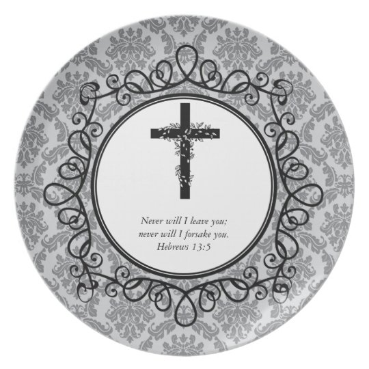 Hebrews 13:5 Bible Verses Decorative Plates