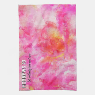 Hebrews 13 kitchen towel