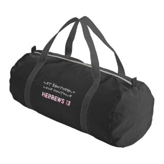 Hebrews 13 Let Brotherly Love Continue Gym Bag