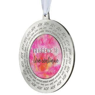 Hebrews 13 pewter ornament