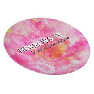 Hebrews 13 plate