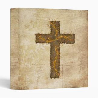 Hebrews 4:12 Parchment & Cross 3 Ring Binders