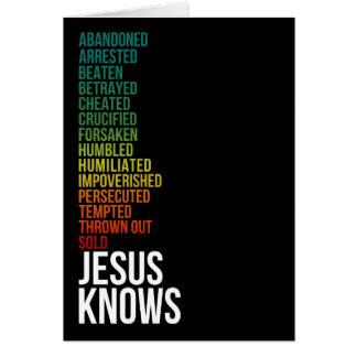 Hebrews 4:15 - Jesus Knows Card