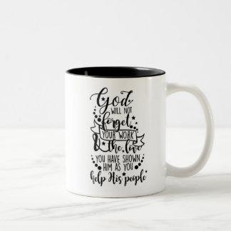 Hebrews 6:10 Mug