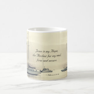 Hebrews 6:19 Jesus Anchor for my soul, Sailboats Coffee Mug