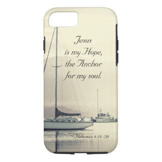 Hebrews 6:19 Jesus Anchor for my soul, Sailboats iPhone 8/7 Case