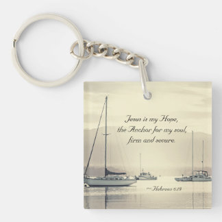 Hebrews 6:19 Jesus Anchor for my soul, Sailboats Keychain