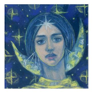 Hecate, Moon goddess, pastel painting, fantasy art
