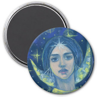 Hecate, Moon goddess, pastel painting, fantasy art Magnet
