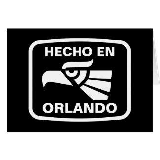Hecho en Orlando personalizado custom personalized Card