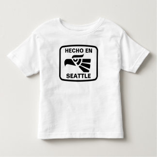 Hecho en Seattle personalizado custom personalized Toddler T-shirt