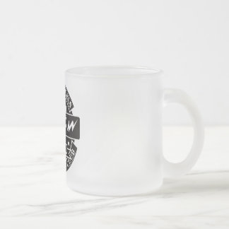 HECKS ANGELS_black Frosted Glass Coffee Mug