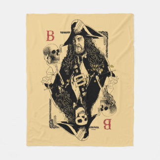 Hector Barbossa - Ruler Of The Seas Fleece Blanket
