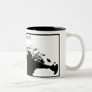 Hector - basic black Two-Tone coffee mug