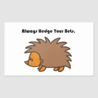 Hedge Your Bets Hedgehog Cartoon Drawing: