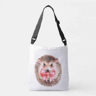 Hedgehog and bow crossbody bag