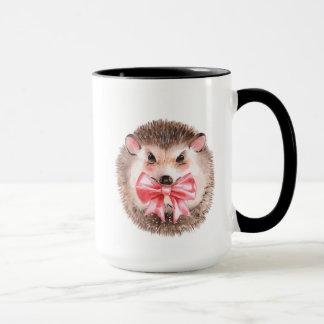 Hedgehog and bow mug