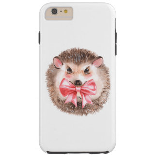 Hedgehog and bow tough iPhone 6 plus case