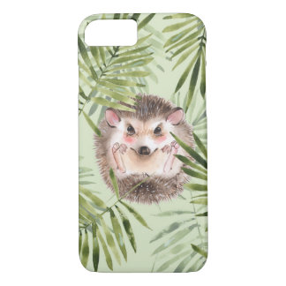 Hedgehog and green leaves iPhone 8/7 case