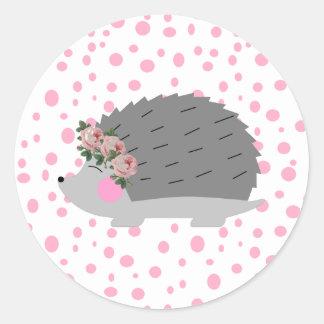 Hedgehog and Polka Dot Sticker
